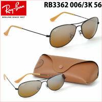"""Ray-Ban RB3362 006/3K 56 """"Cockpit"""" Sunglasses, Black Frame/Brown Lenses, New"""