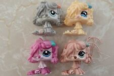 Littlest Pet Shop 4 RARE Mop Sheep Dogs Puppy Sheepdogs #2487 1458 830 1257 Lot