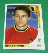 N°559 SIMONS BELGIQUE BELGIË PANINI FOOTBALL JAPAN KOREA 2002 COUPE MONDE FIFA