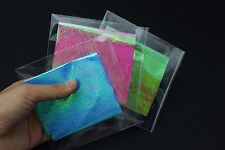 3 colors 8X20cm Fly Tying Rainbow Film Sabiki Rig Shrimp Back Wings Materials