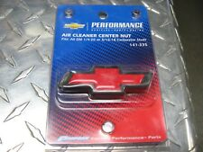 PROFORM # 141-335 CHEVY BOWTIE  AIR CLEANER CENTER NUT(BLACK CRINKLE WITH RED)