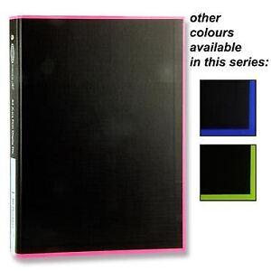 Premier A4 Xtra Firm 40 Pocket Tang Hardback Display Book Folio - Coloured x1