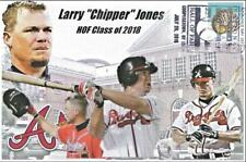 Chipper Jones 2018 HoF Induction Post Card with Cancel