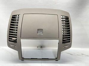 2004-2006 Nissan Altima Center Radio Console Instrument Bezel Trim Lid Brown OEM
