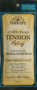 Village Naturals Therapy Aches + Pains TENSION Relief MINERAL BATH SOAK