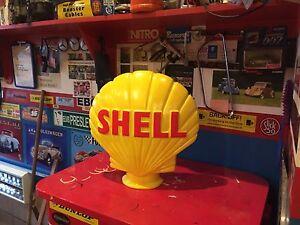 shell petrol pump globe Vintage/replica/retro/plaster