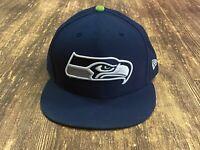 Seattle Seahawks Men's Blue NFL Football Hat - New Era - Size 7 7/8