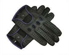 Men's Genuine Real Leather Chauffeur Driving Gloves Reverse Stitch With Touch