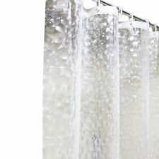 New Transparent 3D PEVA Mosaic Bath Shower Curtain Extra Long