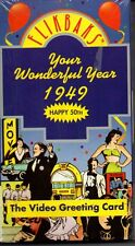 Flikbaks Your Wonderful Year 1949 Video Greeting Card VHS People Politics Sports
