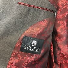 Skopes Mens Wool Blend Grey Classic Sterling Jacket Blazer Size 42R Fast Ship