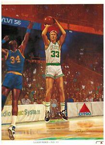 CELTICS 1988 1989 Boston Celtics Basketball LARRY BIRD Citgo Poster 10.5x12.5