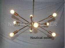 Mid century modern brass chandelier light Industrial Hanging Light Fixture