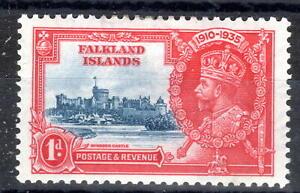 Falkland Islands KGV Silver Jubilee mmint 1d 1937 SG139 [F250821]