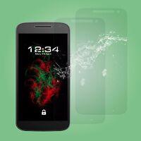 2x Vetro Pellicola Protettiva Trasparente - Motorola Moto G4 Giocare Schermo