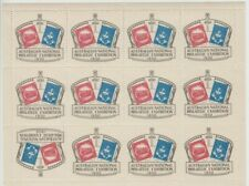 Stamps ANPEX Adelaide exhibition 1950 cinderella labels tete-beche sheet of 12