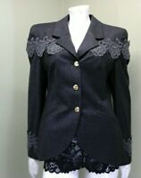 Louis Feraud Woman's Gray Charcoal Jacket~Size 8