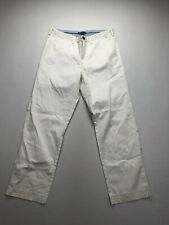 TOMMY HILFIGER GOLF Chino Trousers - W34 L30 - White - Great Condition - Men's