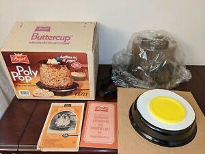 Vintage Regal Ware Poly-Pop Electric 4 QT Air Pop Corn Popper Buttercup New NOS
