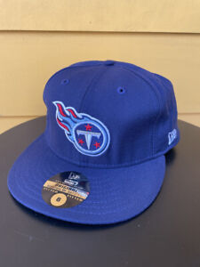 NEW VINTAGE TENNESSEE TITANS NEW ERA 59FIFTY FITTED CAP HAT NAVY BLUE