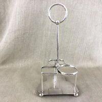 Antikes Silber Platte Flasche Ständer Kleiner Krug Korb Schottische Inverness