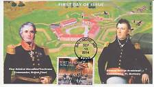 JVC CACHETS -2014 FORT McHENRY ISSUE FIRST DAY COVERS FDC MILITARY WAR TOPICAL 1