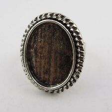 10pcs Vintage Silver Alloy Oval Cameo Setting 18*13mm Ring Base Finding 37599