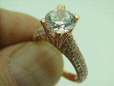 Turkish Handmade Jewelry 925 Sterling Silver Zircon Stone Ladies' Ring Sz 7