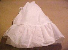 "White FORMAL LENGTH HALF SLIP BRIDAL GOWN PETTICOAT 24"" WAIST 40"" LONG EUC"
