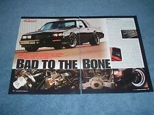 "1987 Buick GNX Grand National Resto-Mod Article ""Bad to the Bone"""