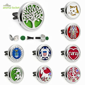 New Alloy Car Vent Clip Air Freshener Essential Oil Aromatherapy Diffuser Locket