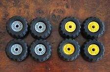 "1 Set of 4 LEGO Wheels Tyres Car Part 1.5"" 37mm Grey or Yellow"