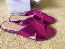 GUESS Flashee3 Slide Sandals, Medium Pink Fuchsia BNIB  UK 5.5 US Size 7.5