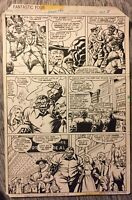 FANTASTIC FOUR JOHN WAYNE # 196 SIGNED ORIGINAL ART 1978 MARVEL COMICS