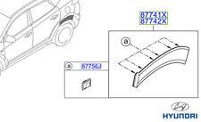 Genuine Hyundai Tucson Side Moulding (Quater Panel), RH - 87742D7000
