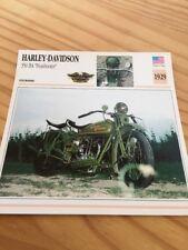 Harley Davidson 350 BA Peashooter 1929 Carte Collection moto Atlas USA
