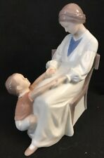 "Copenhagen B & G Porcelain Figurine 1642 Mother & Child - 9"" -Denmark"