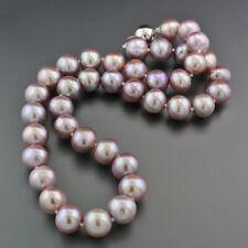 Collier de Perles Culture Rose / Vieux Couleurs Naturelles 10,5 mm 585-Weißgold,