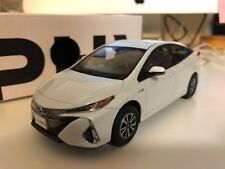 Toyota prius PHV hybrid toy car white 1/30 free shipping