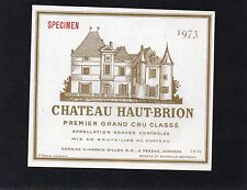 GRAVES 1ER GCC VIEILLE ETIQUETTE CHATEAU HAUT BRION 1973 73 CL RARE   §06/11§