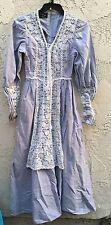 Vtg Gunne Sax Blue Prairie Long Dress Size Small