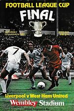 1981 FOOTBALL LEAGUE CUP FINAL PROGRAMME>LIVERPOOL v WEST HAM UNITED