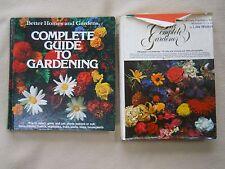 2 Vintage Gardening Books/Complete Guide To Gardening/Better Homes Gardener