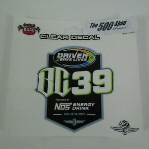 2021 Driven 2 Save Lives BC39 Event Decal USAC Indianapolis Motor Speedway Indy