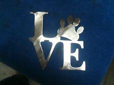 Plasma cut LOVE puppy paw  Metal Wall Art Home Decor
