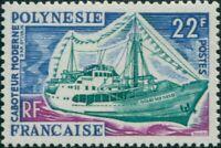French Polynesia 1966 Sc#222,SG61 22f Coaster MNH
