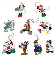 Lot of Assorted Disney Christmas Ornaments MICKEY GOOFY MINNIE DONALD DUCK!