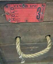 More details for cunard line wooden steamer luggage trunk settler's effects vintage 1920s/30s r.c