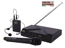 Proel WM101KIT Microfono Sistema microfonico Wireless UHF archetto + gelato