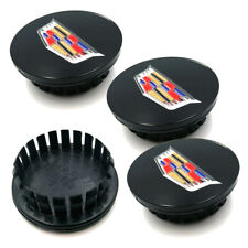 4x 66mm New Glossy Black Wheel Center Hub Caps Emblem For Cadillac ATS XTS STS